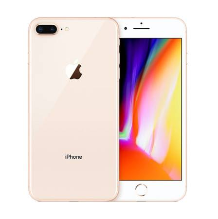 iphone 8 Plus, Vorder- Rückseite in Rosé